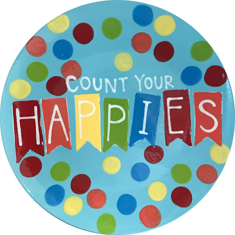 count your happies plate