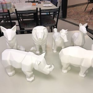 Pottery To Go – Large Faceted Animals