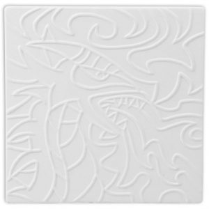 Tile – Embossed Dragon