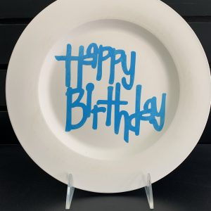 Happy Birthday plate (vinyl stencil) 1