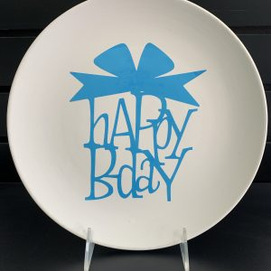 Happy Birthday plate (vinyl stencil) 7