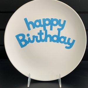 Happy Birthday plate (vinyl stencil) 5