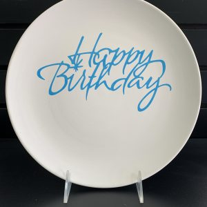 Happy Birthday plate (vinyl stencil) 2