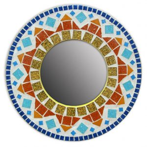 Large Mosaic Round Mirror Kit
