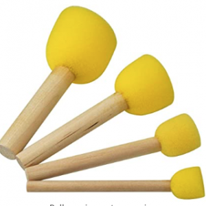 Round Sponge Brush Set