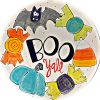 """""""Boo Y'all"""" with cartoon halloween candy rim plate"""