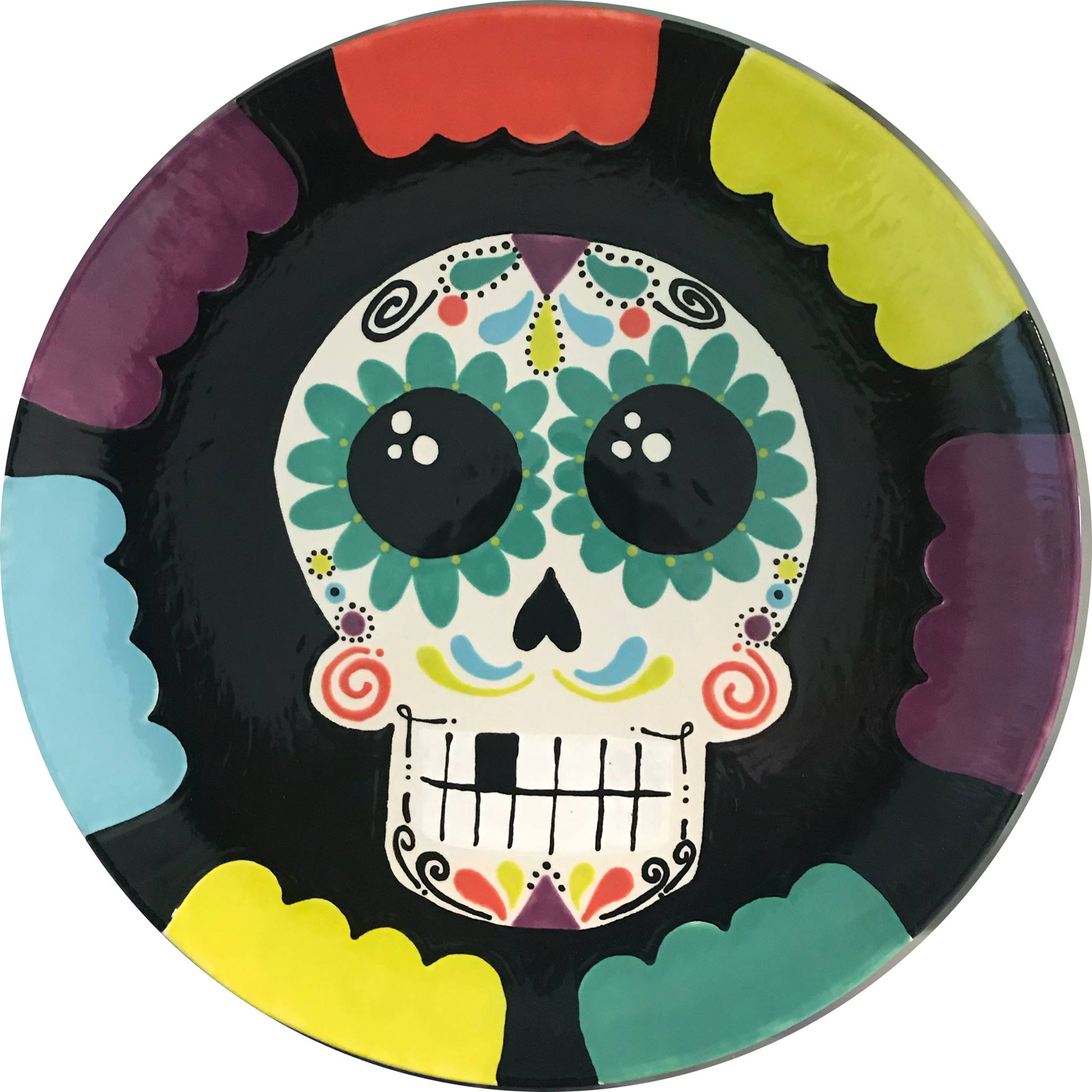 Day of The Dead style Skull plate