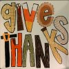 """Thanksgiving """"Give Thanks"""" plate with fall themed letters"""