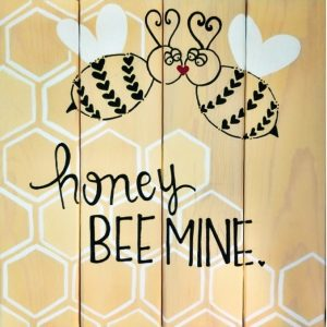 """""""honey bee mine"""" with bees plate"""