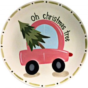 car with tree in the back plate