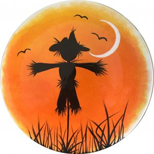 Scarecrow silhouette plate